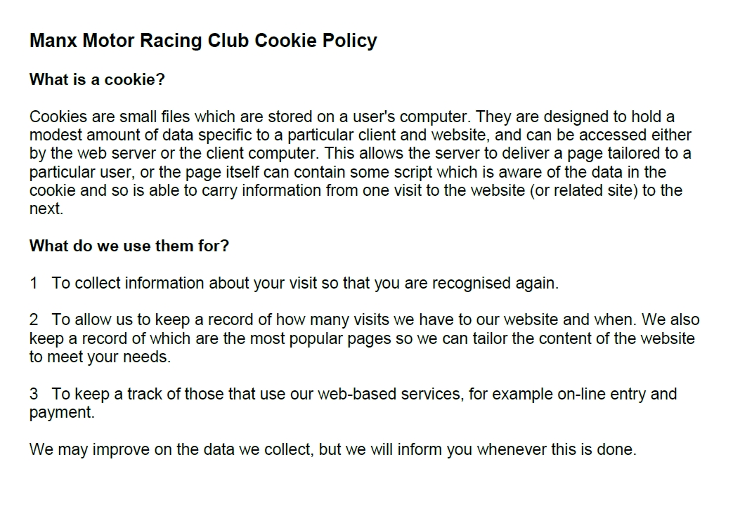 MMRC Cookie Policy